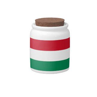 Hungarian Flag Candy Jar