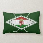 Hungarian Flag Ice Hockey Pillow Cushion