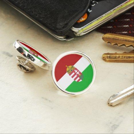 Hungarian flag lapel pin