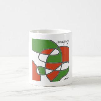 Hungarian Flag Mondrian Inspired Coffee Mug