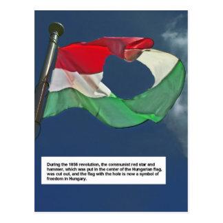 Hungarian Flag of the Revolution Postcard