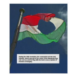 Hungarian Flag of the Revolution Poster
