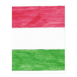 Hungarian Flag Postcard