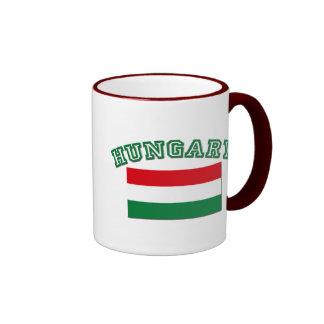 Hungarian Flag Ringer Mug