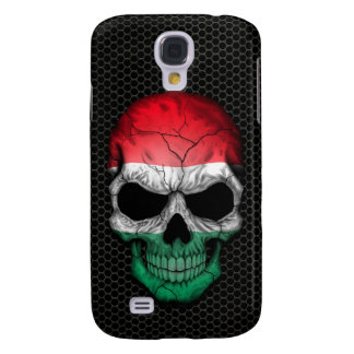 Hungarian Flag Skull on Steel Mesh Graphic Galaxy S4 Cover