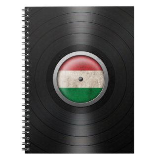 Hungarian Flag Vinyl Record Album Graphic Spiral Notebook