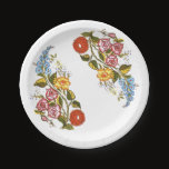 Hungarian Floral Paper Plate