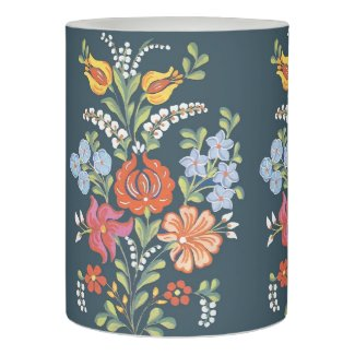 Hungarian Floral Pattern Flameless Candle