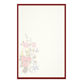 Hungarian floral stationery