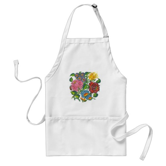 hungarian flowers adult apron
