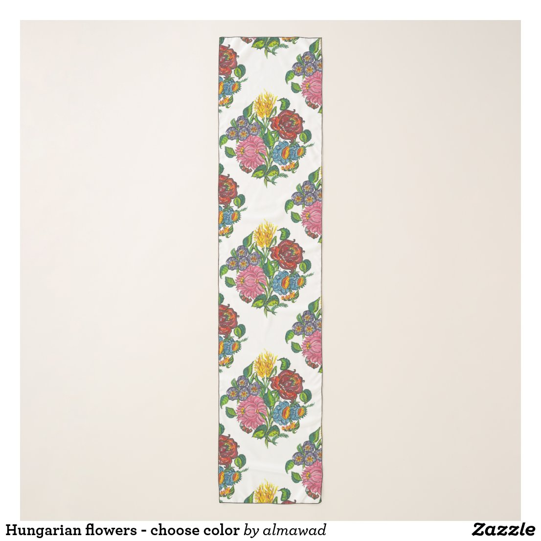 Hungarian flowers - choose color scarf