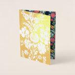 Hungarian flowers - golden foil card