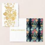 Hungarian flowers - golden luxury foil card