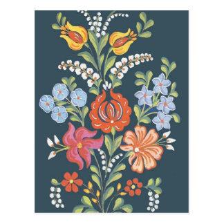 Hungarian flowers postcard