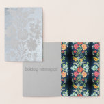 Hungarian flowers - silver foil card