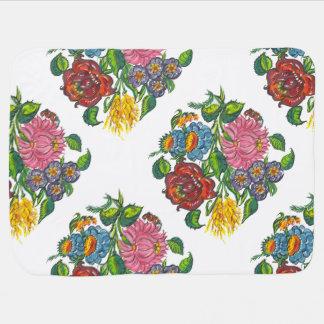 hungarian flowers stroller blanket