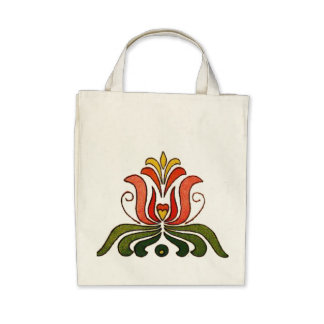 Hungarian Folk Art Canvas Bags