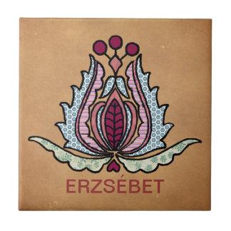 Hungarian Folk Art Ceramic Tiles