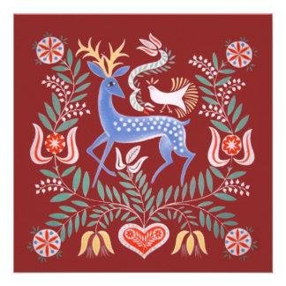 Hungarian Folk Art Personalized Announcement
