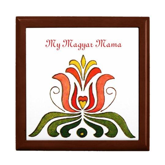 Hungarian Folk Art Tulip Gift Box