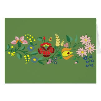 Hungarian folk motifs card