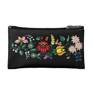 Hungarian folk motifs design from Kalocsa region Cosmetic Bag