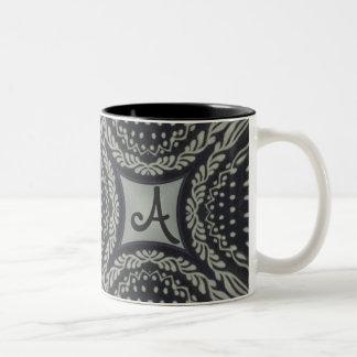 Hungarian Folk Motifs Two-Tone Coffee Mug