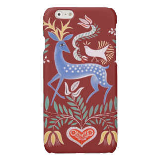 Hungarian Folkart Stag Glossy iPhone 6 Case