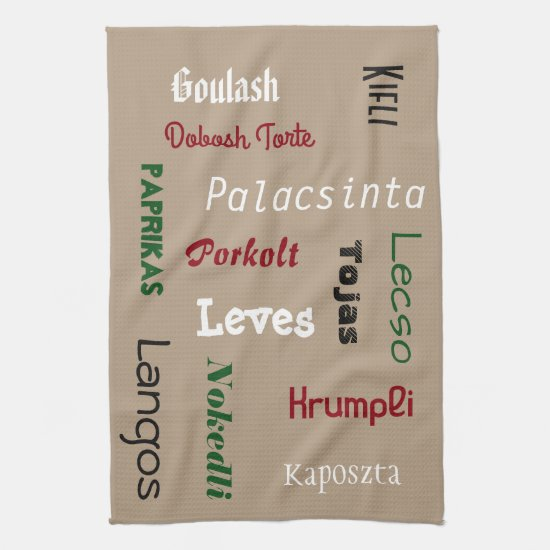 Hungarian Foods Hand Towel
