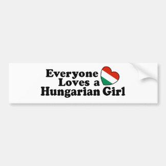Hungarian Girl Bumper Sticker