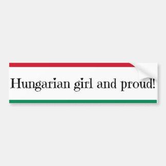 Hungarian Girl Pride Bumper Sticker