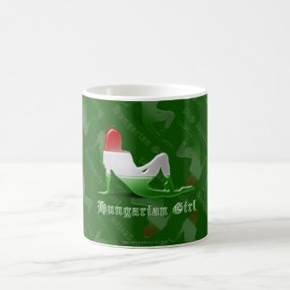Hungarian Girl Silhouette Flag Coffee Mug