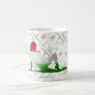Hungarian Girl Silhouette Flag Coffee Mug
