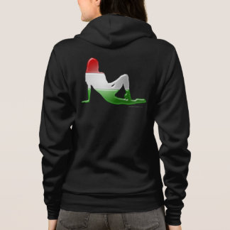 Hungarian Girl Silhouette Flag Hoodie