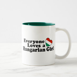 Hungarian Girl Two-Tone Coffee Mug