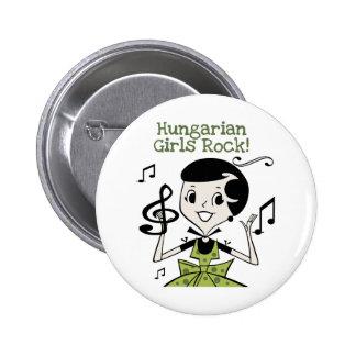 Hungarian Girls Rock Pinback Buttons