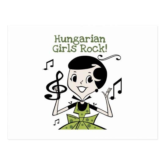 Hungarian Girls Rock Postcard