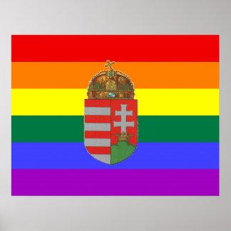 Hungarian GLBT Pride Flag Posters