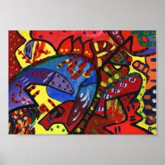 Hungarian Gouache 2 Abstract Art Poster