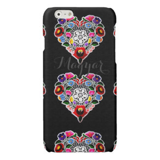 Hungarian Heart Embroidery Glossy iPhone 6 Case