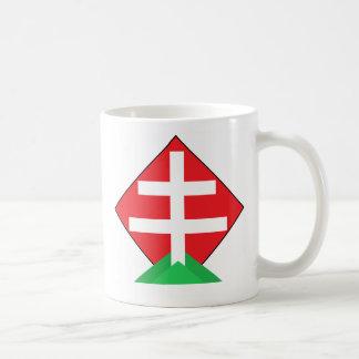 Hungarian highland classic white coffee mug