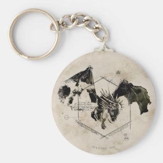 Hungarian Horntail Dragon Basic Round Button Keychain