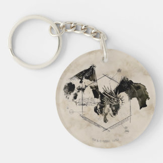 Hungarian Horntail Dragon Double-Sided Round Acrylic Keychain