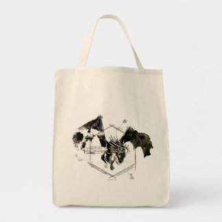 Hungarian Horntail Dragon Grocery Tote Bag