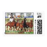 """""""Hungarian Horseman"""" equine stamp"""