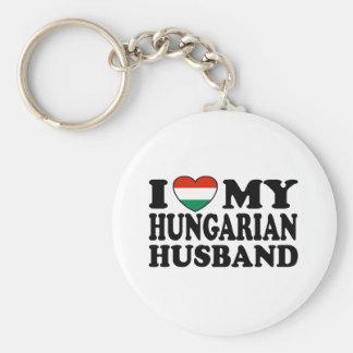Hungarian Husband Basic Round Button Keychain