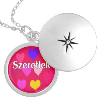 Hungarian - I love you Locket Necklace