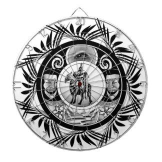 Hungarian ink motif dart board