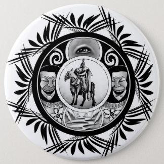Hungarian ink motif pinback button