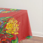 Hungarian - kalocsai floral pattern in red tablecloth